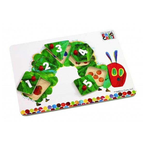 The VHC Peg Puzzle comes with 5 peg puzzle pieces. Each has a number on it to encourage your toddler to start counting. There is a little surprise underneath ea