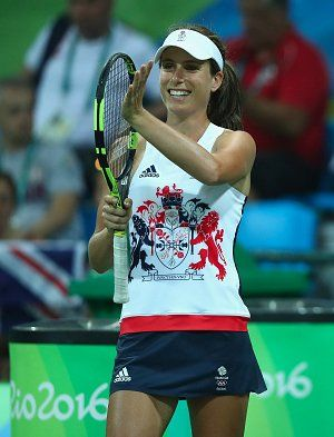 5/8/16 Via WTA  ·    Great Britain's @JoKonta91 earns her first #Olympics win!  Tops Vogt 6-3, 6-1! #Rio2016