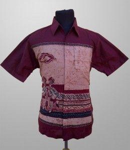 Baju Batik Kombinasi Tulis Pria Kerja Motif Abstrak Kode KT 20 Kirim Pesan Ke 082134923704