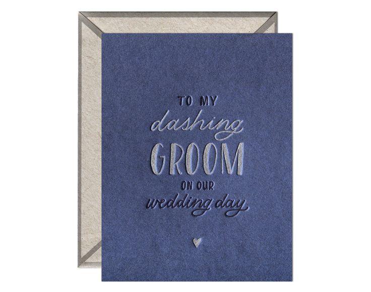 Dashing Groom letterpress card by inkmeetspaper on Etsy https://www.etsy.com/listing/387622668/dashing-groom-letterpress-card