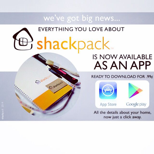 Shackpack now an app!