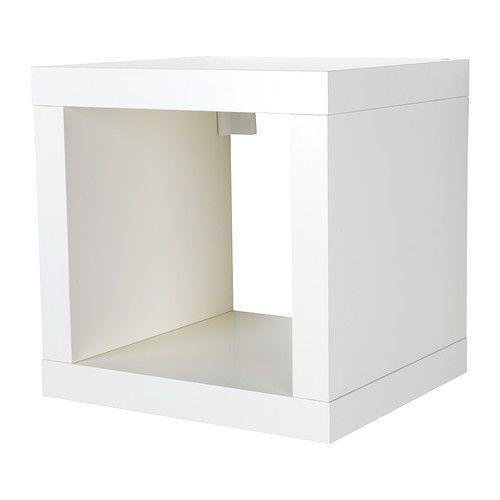 IKEA - KALLAX, Regal, weiß, , Kann je nach Bedarf an der Wand befestigt oder auf den Boden gestellt werden. 16.99