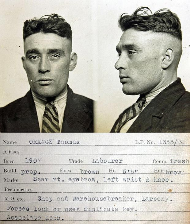 Gangster-style mugshots take us back in Tyne for a view of 1930s crime