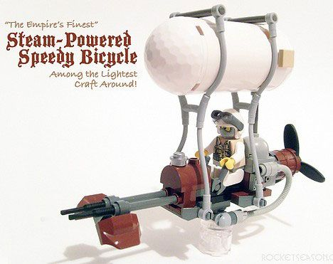 An entire page of homemade steampunk LEGO creations ... of AWESOMENESS ... :D