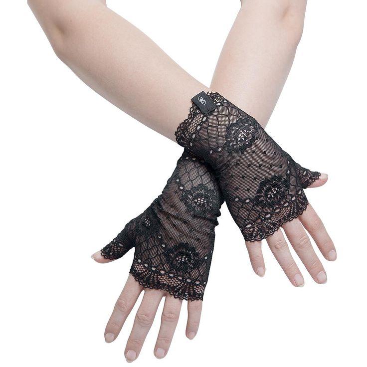 Gothicana by EMP Armvärmare »Short Lace Cuffs« | Köp i Sweden Rock Shop | Mer kåda Handskar finns online ✓ Oslagbara priser!