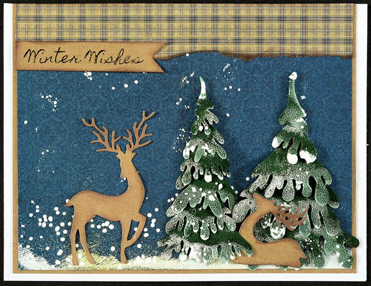 95 Best Images About Cards: Christmas, Die-cut, Dee's