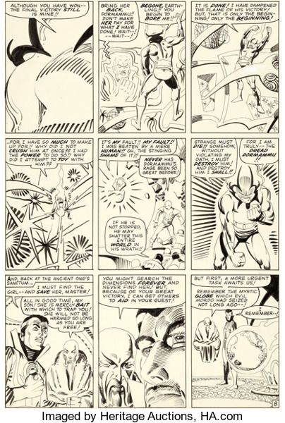 Original Comic Art:Panel Pages, Steve Ditko Strange Tales #141 Story Page 8 Doctor StrangeOriginal Art (Marvel, 1966)....