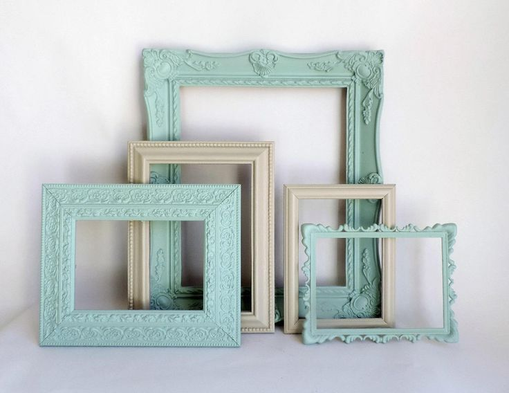 Shabby Chic Frames, Cottage Decor, Vintage Frames, Wall Art Set, Gallery Wall Frames, Gallery Wall Frame Set, Wedding Frames, Home Decor by FarahLynnDesign on Etsy