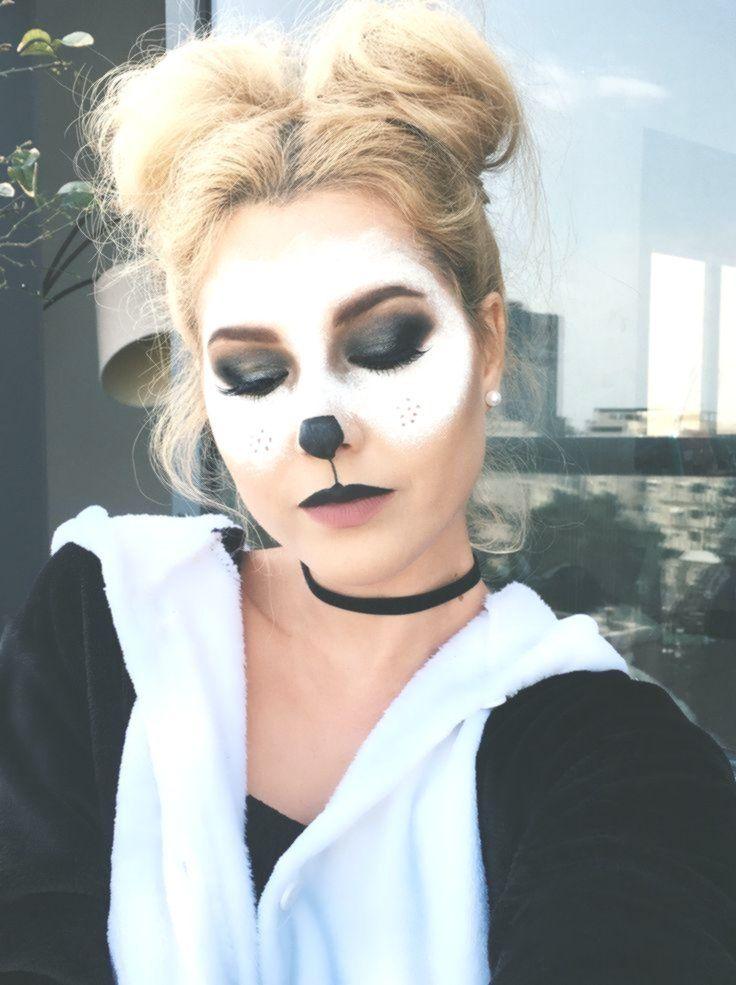 Panda Halloween Costume Make Up Girl Halloween Costume Makeup Onesie Halloween 2018 Holiday Hairstyle Hap Halloween Costs Costume Makeup Panda Makeup