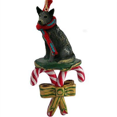 Australian Cattle Dog BLUE HEELER CANDY CANE Christmas Ornament by Conversation Concepts