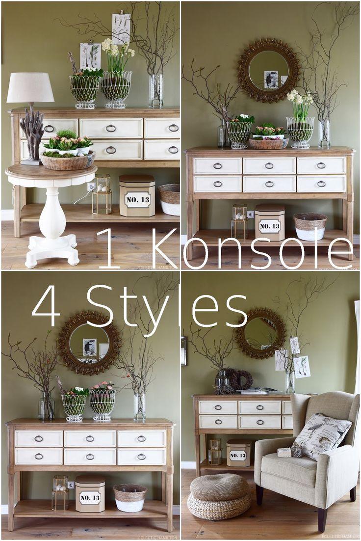358 besten deko f r sideboard und konsole bilder auf pinterest mein haus spiegel und bastelei. Black Bedroom Furniture Sets. Home Design Ideas