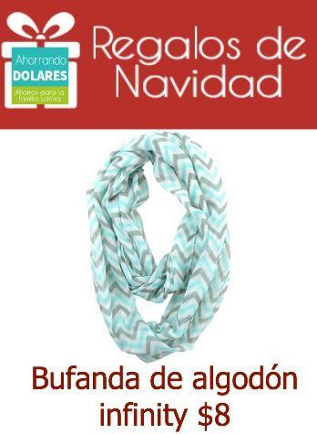 Regalos de Navidad económicos. Bufanda de algodón por $8 (precio regular $25)