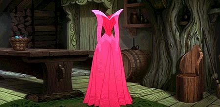 Disney fact: The pink-blue argument about Auroras dress was actually a real conflict in the production of Sleeping Beauty.