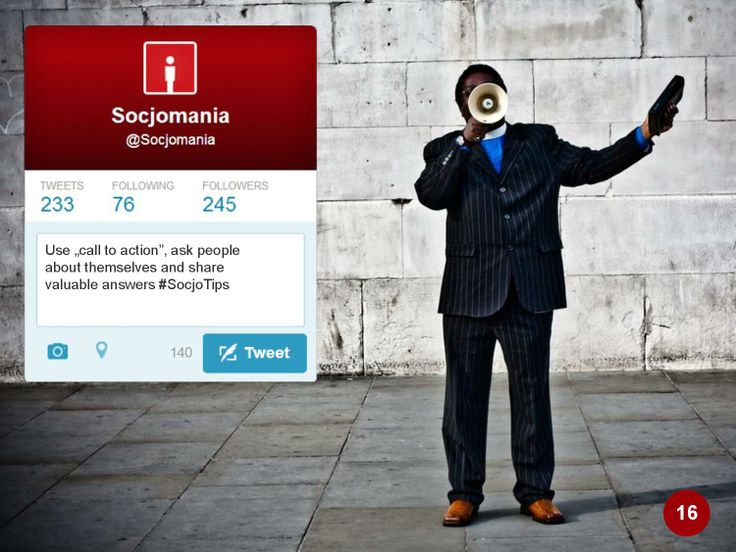 50 Twitter Tips (16). Full presentation: https://www.slideshare.net/Socjomania/the-ultimate-guide-to-twitter-50-useful-tips  #Twitter #TwitterTips #SocialMedia #SocialMediaTips