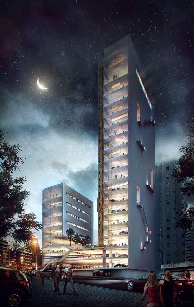 Unesco offices by mer ces architecture vizualization studio design by domaine public architects architecture visualization3d
