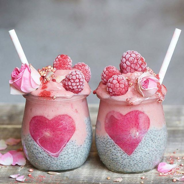 I usually leave the chia smoothies to the healthy Instagrammers, but, come on, how adorable is this? I kind of want one right now. Who else loves the look? Regram from @alphafoodie #smoothie #smoothies #berrysmoothie #raspberry #raspberries #chia #healthydessert #healthyliving #healthyfood #huffposttaste #buzzfeast #foodstagram #thekitchn #forkyeah #foodwinewomen #foodstyling #hearts #yogafood #berries #berry #chiaseeds #chiaseed #feedfeed #sweettooth #valentinesday
