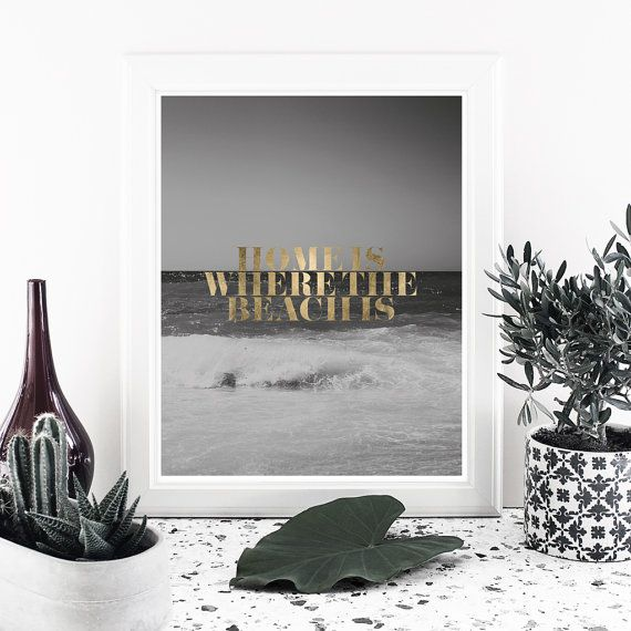 Quote print printable art digital poster print Gold by MessProject