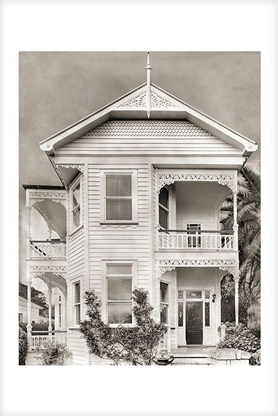"""""""Devonport House no. 1"""" is a fine art photograph by Jonathan Bourla.  Taken with a large format view camera similar to the plate cameras of one hundred years ago.  This limited edition photograph is printed on one hundred percent acid-free cotton rag paper with pigment ink.  To see more of Jonathan's photographs, go to www.jonathanbourla.com"""