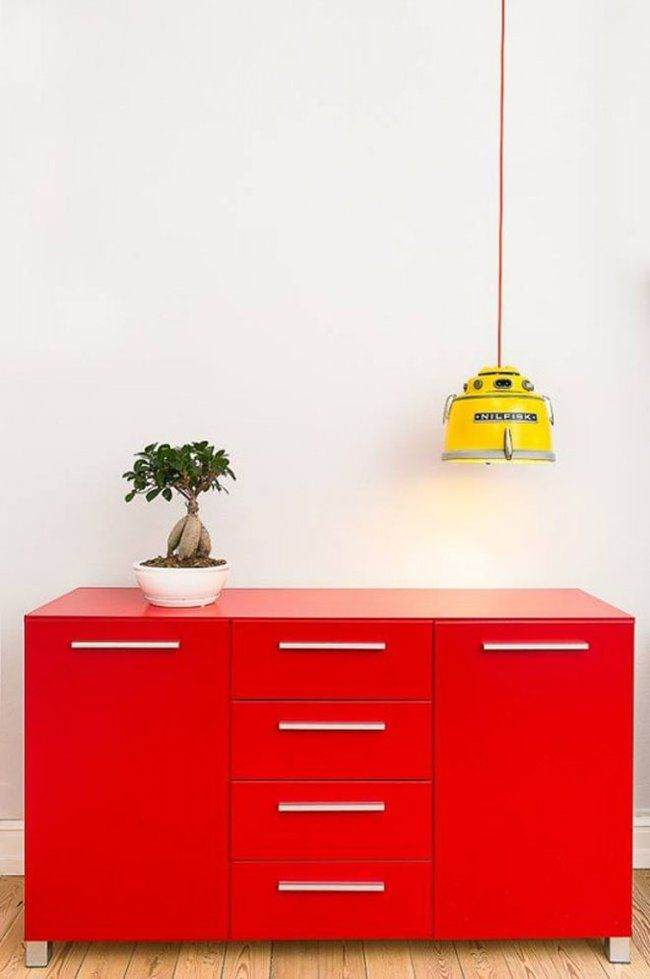 Retro lamps made from recycled vintage Danish vacuum cleaners : TreeHugger - given my dislike of vacuuming these look like a much better use