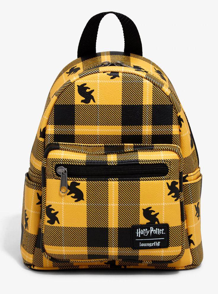 Loungefly harry potter hufflepuff plaid mini backpack