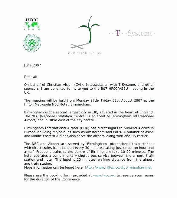 Sample Invitation Letter For Guest Speaker At Church Elegant