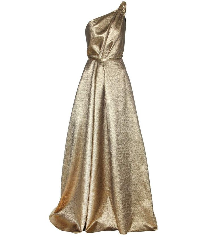 Carolina Herrera - mytheresa.com exclusive one-shoulder metallic gown -  Falling to an
