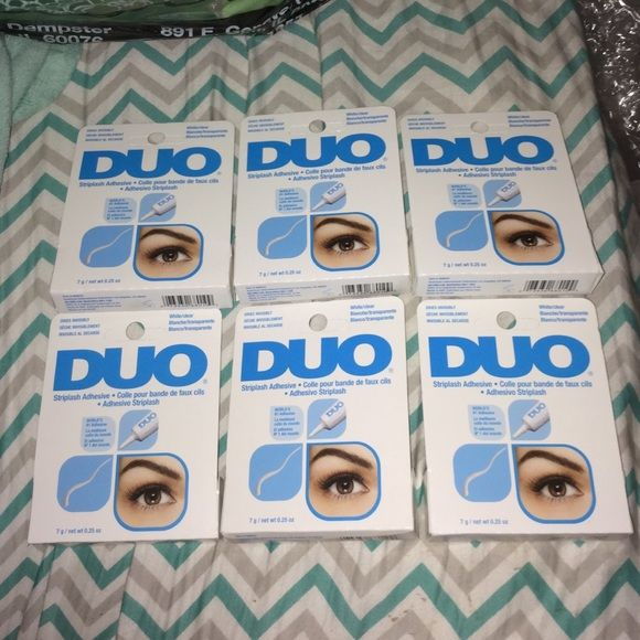 Brand new duo eyelash glue adhesive 0.25 oz I have 6 of them comment how many you want and make an offer Makeup