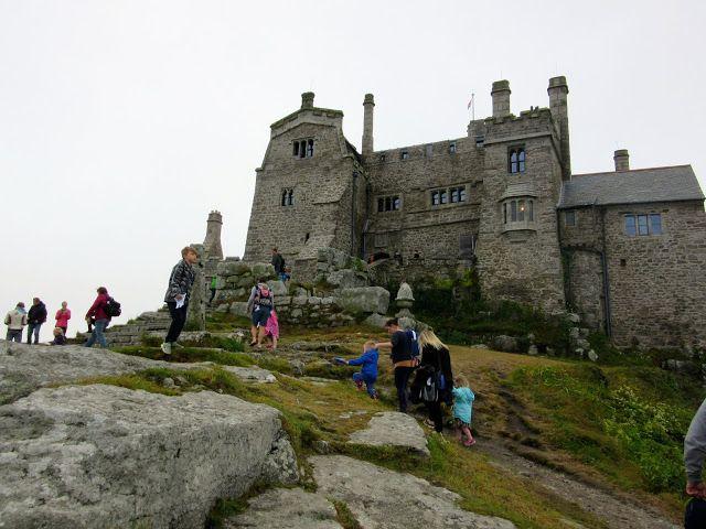 MARAZION:  The medieval castle on St. Michael's Mount, Cornwall https://destinationfiction.blogspot.ca/2016/10/coastal-marvels-of-cornwall.html