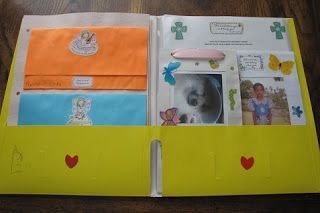 great way to package a letter with goodies to sponsor child so it stays within thickness limits