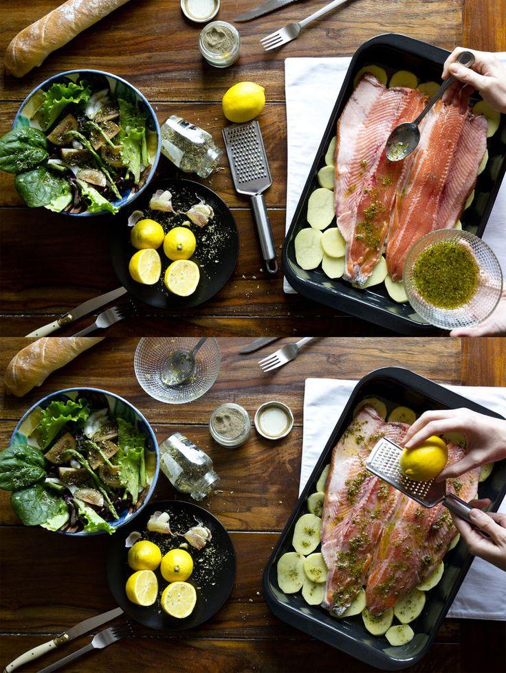 Trucha al horno con limón y orégano 3