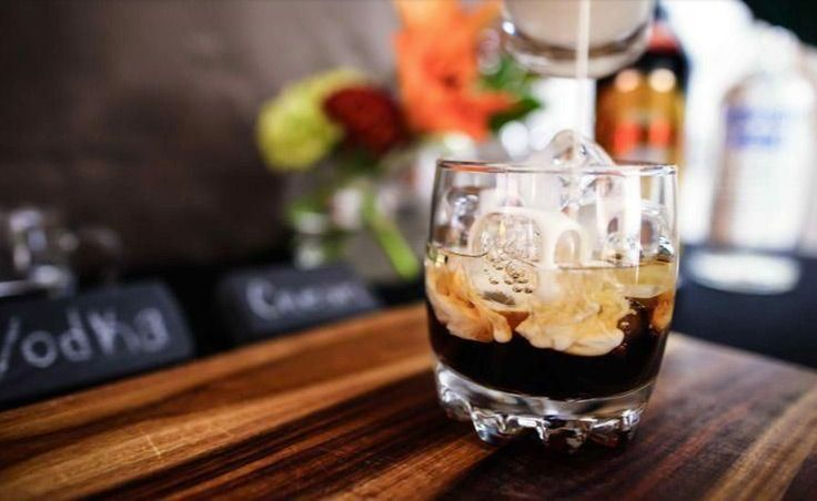 We're toasting to a white winter with this Kahlua White Russian.