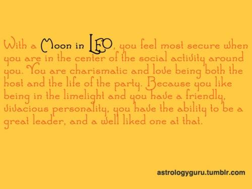 my leo moon.