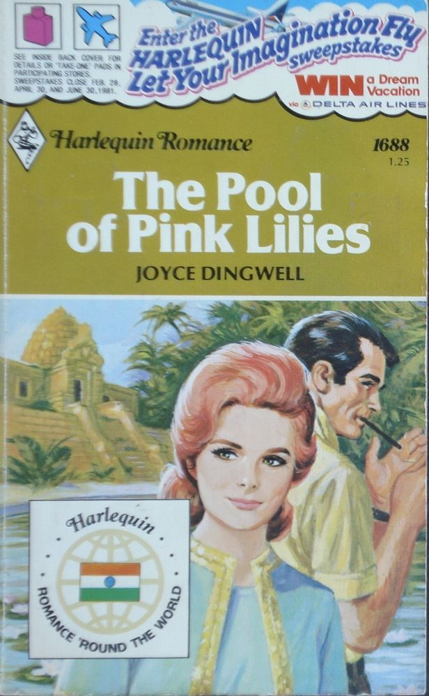 Vintage Harlequin Romance, 1688, The Pool Of Pink Lilies, Joyce Dingwell
