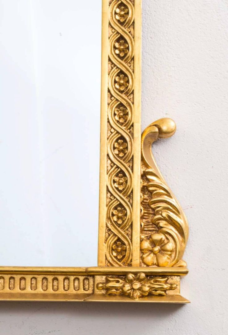 Beautiful Decorative Swedish Carved Giltwood Mirror | From a unique collection of antique and modern floor mirrors and full-length mirrors at https://www.1stdibs.com/furniture/mirrors/floor-mirrors-full-length-mirrors/