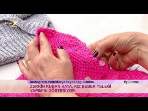 Derya Baykal'la Gülümse: Kız Bebek Yeleği Yapımı - YouTube