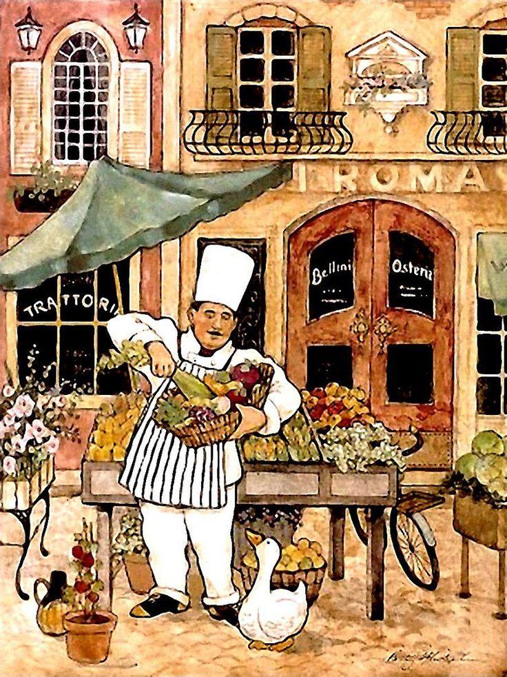 Картинки поваров на кухне декупаж