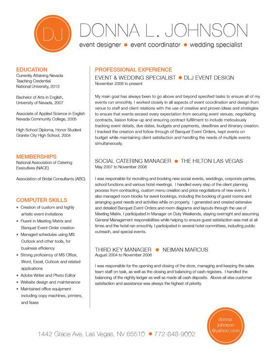 custom resume template color circile initials