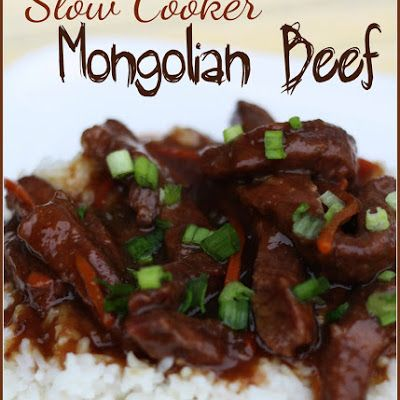 Mongolian-inspired flank steak strips slow cooked in ginger, garlic, soy sauce, brown sugar, carrots and green onions. This recipe requires little attention once it gets going.