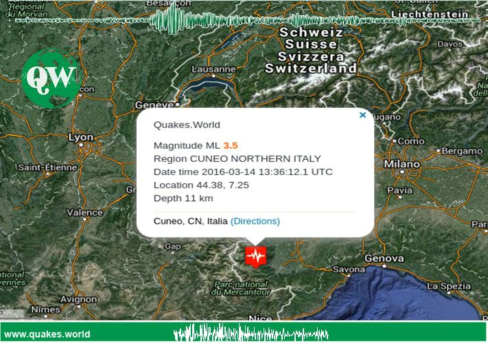 #Terremoto #Italya #Earthquake #Cuneo An earthquake was recorded in Northern Italy Cuneo