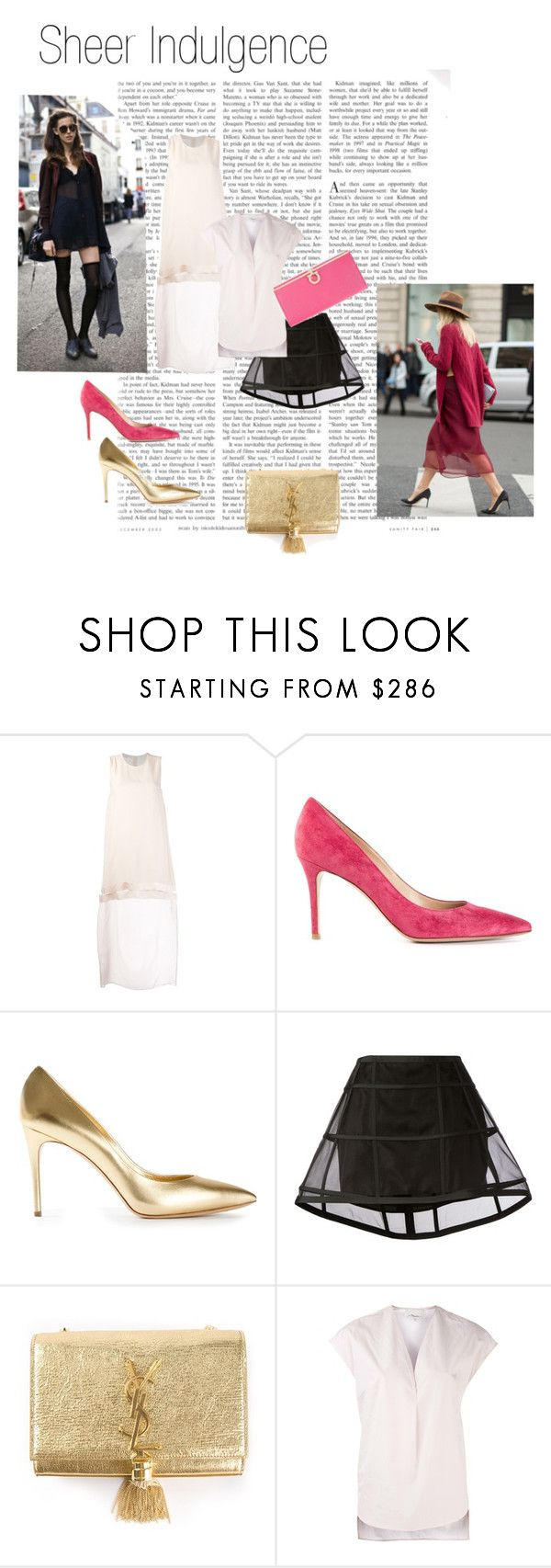 """""""Sheer Indulgence"""" by farfetch ❤ liked on Polyvore featuring STELLA McCARTNEY, Gianvito Rossi, Casadei, Peter Pilotto, Yves Saint Laurent, 3.1 Phillip Lim and Salvatore Ferragamo"""