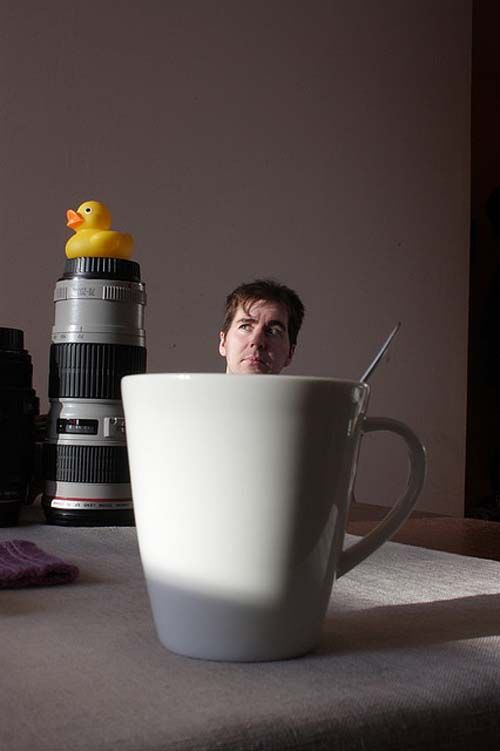 Really getting into that cup of coffee #perspective