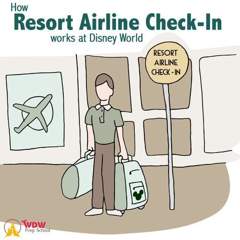 Resort Airline Check-In at Disney World   What it is and how it works