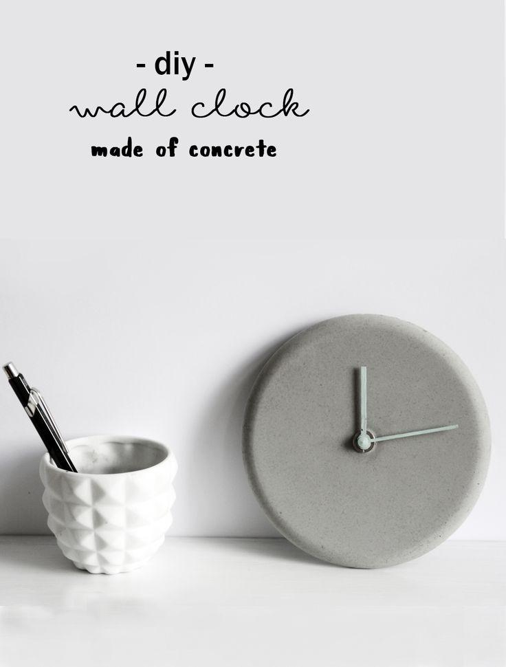 DIY Beton Uhr für die Wand selbstgemacht | Do it yourself with concrete | handmade wall clock | idea | Idee | Anleitung | Tutorial | Einrichtung | Interior | Wohnen  | Wand Dekoration | Deko basteln | grau und schlicht | skandinavisches Design | crafting | kreativ