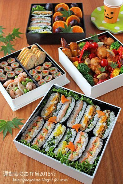 日本人のごはん/お弁当 Japanese meals/Bento おにぎらず行楽弁当 und6663.jpg