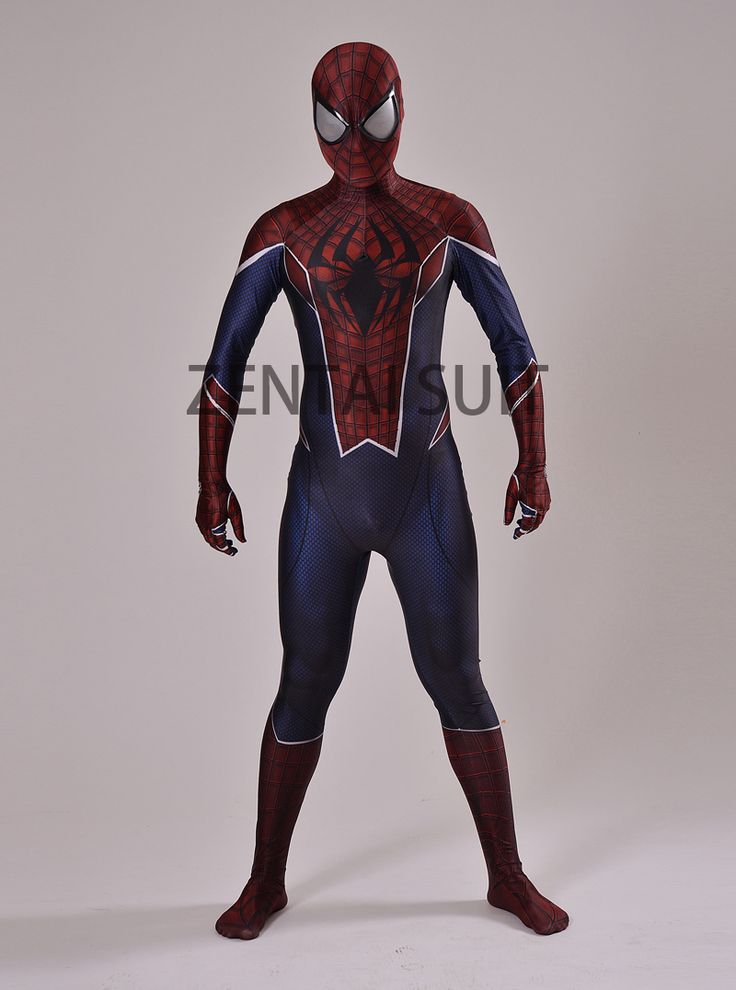 Punk Spiderman Costume 3D Printing spider-man costumes cosplay spandex zentai suit for halloween hot sale