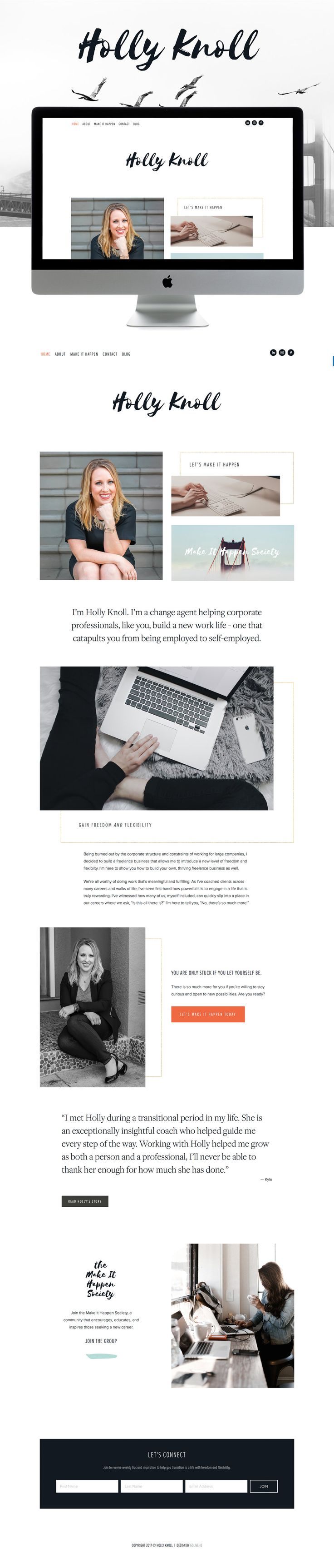 sophisticated, professional, clean squarespace website design | design by: golivehq.co