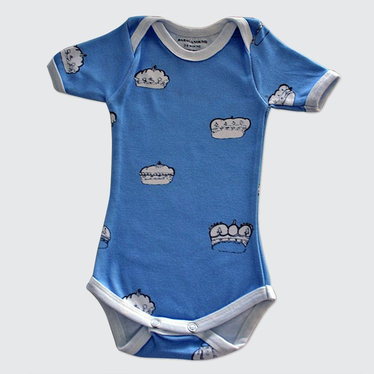 Blue Crown Babygrow