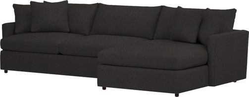 Lounge II 2-Piece Sectional Sofa (Left Arm Sofa, Right Arm Chaise) shown in Taft, Cobalt
