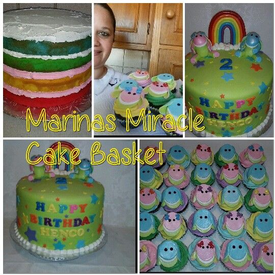 Lollos and Lettie rainbow cake and cupcakes by Marina Kirk-Osman