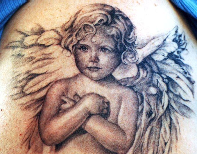 Baby Angel Tattoo Images & Designs
